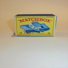 Matchbox Lesney 22 c1 Pontiac Grand Prix Sports Coupe empty Repro E style Box