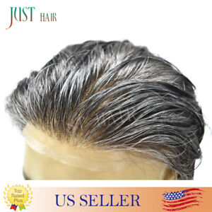 Natural Hairline Swiss Lace Mens Toupee Full Lace Hairpieces Repalcement System