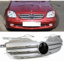 FRONT SILVER GRILL FOR MERCEDES SLK R170 96-04 SPOILER BODY KIT NEW