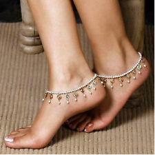Nice Womens Beach Barefoot Sandal Foot Pearl Bead Jewelry Anklet Chain Tassel