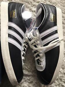 Mens adidas gazelle trainers size 12 Uk Leather Vtg Retro Casuals New