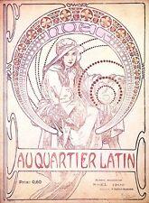 Au Quartier Latin Poster Alphonse Alfons Mucha Reproduktion POSTER PRINT NEW