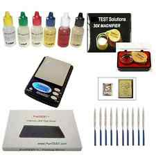 Gold Silver Platinum Acid Tester Kit + Huge 6x3 Stone + Electronic Scale Loupe