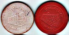 2 Wooden Advertising Poker Chips: Boston Store
