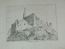 Staufen Breisgau Burg Ruine Schloss Original Litho Lederle 1880