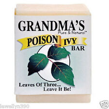 (4) Grandma's Soap NATURAL POISON IVY & OAK BAR 2oz Jewelweed Stops the Itch!