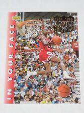 1995 Michael Jordan NBA Upper Deck 'He's Back March 19, 1995' Reprint Card #453