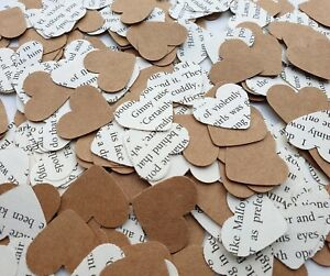 Harry Potter Heart Book Confetti Handmade Table Decor Party Wedding Rustic Mix