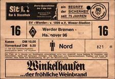 Ticket II. BL 80/81 SV Werder Bremen - Hannover 96