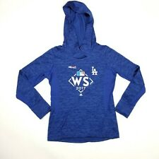 Majestic MLB 2017 Los Angeles Dodgers WS Blue Sweater Womens Size Medium