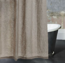 Washed 100% Linen Shower Curtain 72x72 inch Bath French Country Beige ivory