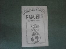 SOHAM TOWN RANGERS  V  GORLESTON  (T&CLC)  UNDATED BUT 12/73 OR 1/74? FOUR PAGER