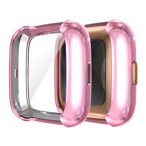 Watch TPU Protective Full Screen Frame Case Cover Protector For Fitbit Versa 2