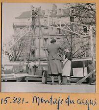 Forains Cirque c. 1935 - Montage du Chapiteau - FOR 3