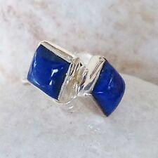 Handgefertigter echter Ohrschmuck mit Lapis Lazuli-Hauptstein für Damen