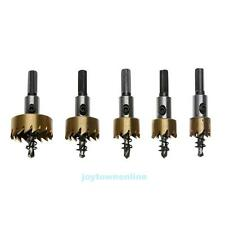5pcs 16-30mm Hole Saw Cutter Drill Bit Set HSS Metal Sheet Reamer with Wrench