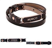 Mimco Buckle Up Leather 💓💓💓 Bracelet Wrist Cuff Bangle  New + Dust Bag