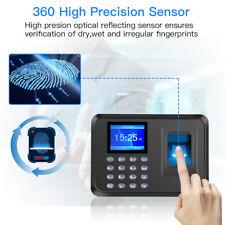 24 Lcd Screen Fingerprint Scanner Attendance Employee Check In Out Time Clock