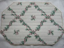 NWOT 4 Christmas Holly Leave & Berry Cloth Placemats