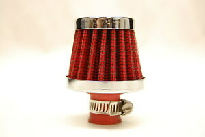 """Spectre 3992 2"""" Mini Breather Clamp On Vent Filter Chrome Red 3/8"""" 1/2"""""""