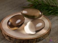 Light SMOKY QUARTZ Crystal Lingam Stone - One S, M or L Himalayan Quartz E1232