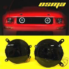 For 2005-2009 Ford Mustang GT Hood Front Grille LED Halo Smoke Fog Lights Lamps