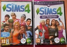 THE SIMS 4 + GET TOGETHER EXPANSION PC DVD-ROM GAMES new & sealed BOX VERSIONS
