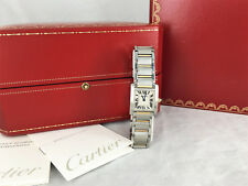 Cartier Tank Francaise Watch Steel 18k Gold Watch  ladies Francaise Box Papers