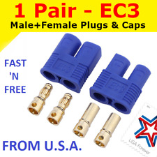 1 Pair EC3 Connector Plug for RC Car Plane Helicopter Battery Lipo ESC