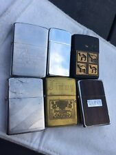 VINTAGE LOT OF ZIPPO LIGHTER CAMEL BUDWEISER AND MORE ALL WORKS