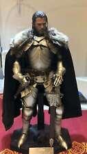 """Black 1:6th VTG Medieval Royal Knight Fur Collar Cloak F 12"""" Male Body Doll Toy"""