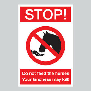 Do Not Feed The Horses Sign Plaque / Sticker