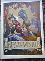 WASHINGTON IRVING RIP VAN WINKLE vintage 1924 1st edition dust jacket N.C. Wyeth