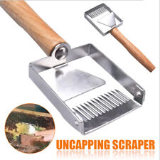 New Stainless Steel Bee Hive Uncapping Honey Fork Scraper Shovel Beekeeping Tool