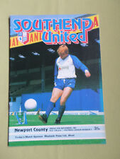 SOUTHEND UNITED  v  NEWPORT COUNTY  - DIV 3 - 81/82  - FOOTBALL PROGRAMME