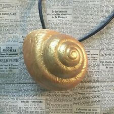 Ursula The Sea Witch inspired Golden Shell Necklace - Large. The Little Mermaid