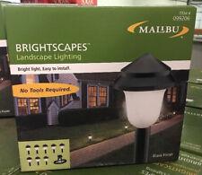 (8) Malibu Low Voltage Outdoor Path Yard Black Landscape Garden Lights KIT NEW
