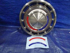 62 - 63 Ford Falcon Futura Hubcap wheel cover red white blue decal set of 4 new