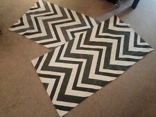 Patterned Black & White Rug x 2
