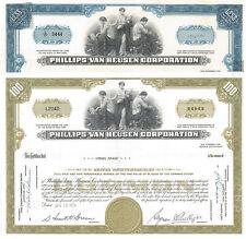 Phillips-Van Heusen > set of 2 1970s New York stock certificates PVH