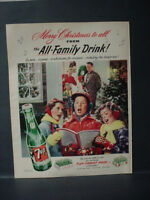 1952 7-Up 7Up Seven Up Soda Christmas Carol Gorgeous Vintage Print Ad 11559