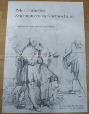GERMAN POSTER 1991 - PETER CORNELIUS DRAWINGS GOETHE FAUST art print