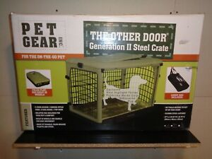 Pet Gear Inc The Other Door Generation II Steele Crate New