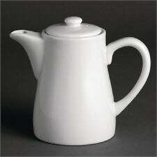 4 x Olympia Whiteware Coffee Pots 310ml 11oz - U824 White Porcelain Catering