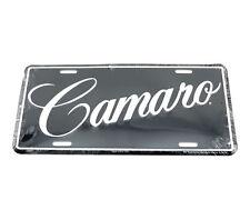 Chevrolet Chevy Camaro Script Licensed Aluminum Metal License Plate Sign Tag
