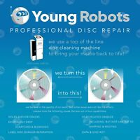 2 Mail-In Video Game CD DVD Blu-Ray Disc Repair Service - Remove Scratches