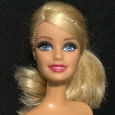 Barbie Doll Blonde Straight Arms & Legs Htf Rare Face Big Eyes 👀 Ponytail Nude