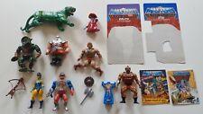 Masters del universo Lote de Trabajo Vintage Figuras Sueltas años 80 He-man & Gato cambia Lyn