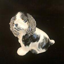 Vtg California Pottery Cocker Spaniel Dog Figurine Spaghetti Ears Jane Callender