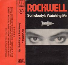 """ROCKWELL """"SOMEBODY'S WATCHING ME"""" SPANISH CASSETTE / MICHAEL JACKSON NO CREDITED"""